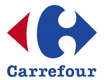 Logo du groupe Carrefour, référence de la grande distribution